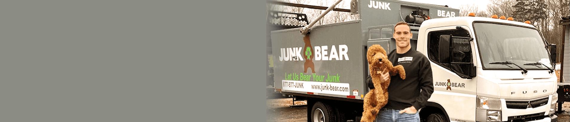 Junk Bear expert with dog