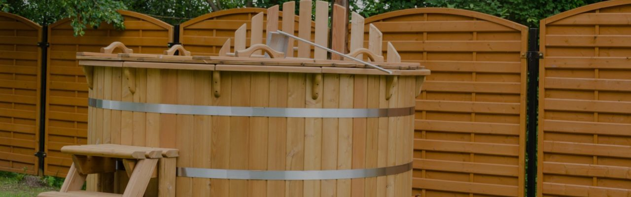 Old hot tub in need of hot tub removal services